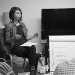 Shawna teaching Childbirth Class